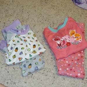 Girls Pajama Set Bundle GUC